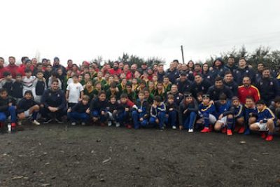 Rugby Selección Española y Chilena