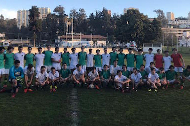 Intercambio deportivo football y volleyball.