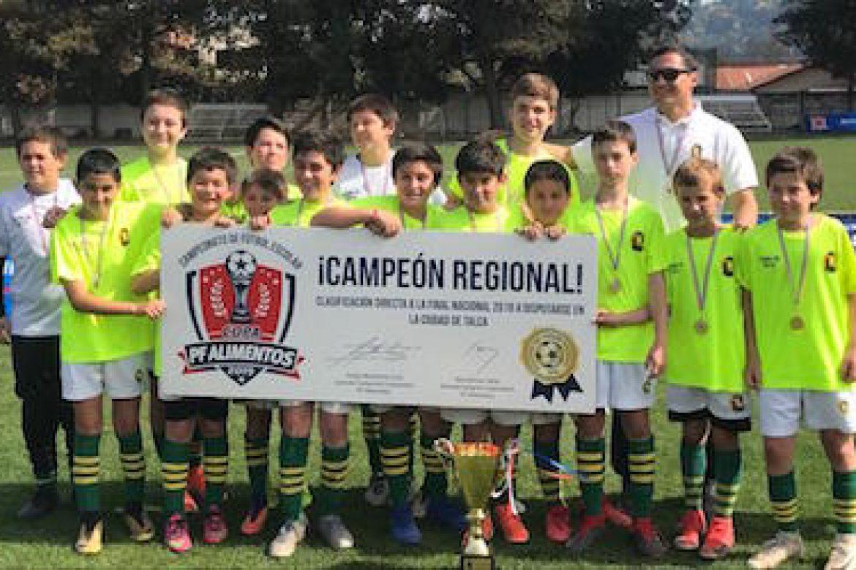 5th y 6th campeones regionales de football en copa organizada por PF