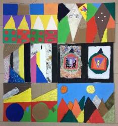 Arte Geométrico basado en la obra del chileno Ramón Vergara Grez