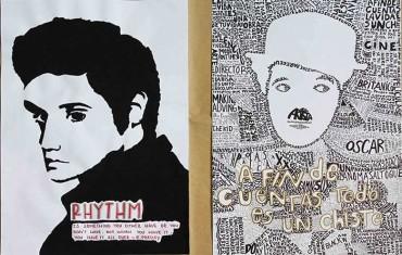 Artes hechos por estudiantes de Junior y Senior Class. Tema: Personajes del siglo XX