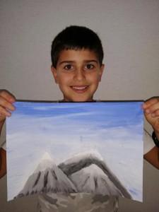 dibujo montañas